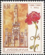 Yugoslavia 1990 Labour Day/Workers/People/Business/Flowers/Buildings 1v (n44964)