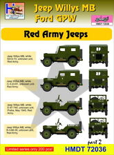 H-Model Decals 1/72 Willys Jeep MB/Ford GPW: Red Army Part 2 # 72036