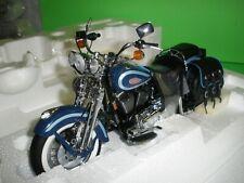 FRANKLIN MINT HARLEY DAVIDSON BLUE HERITAGE SPRINGER DIECAST MOTORCYCLE B11YF03