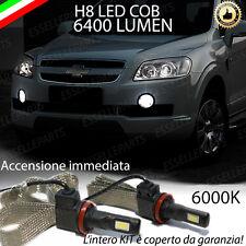 KIT FULL LED CHEVROLET CAPTIVA LAMPADE H8 FENDINEBBIA CANBUS 6400 LUMEN 6000K