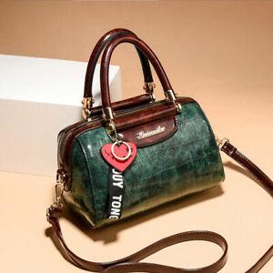 Alligator Boston Bags Women Crocodile Pattern Handbag Shoulder Messenger Bag Box