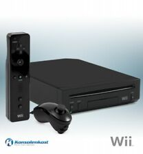 Nintendo Wii - Konsole #schwarz + Original Remote + Zub.