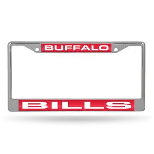 Buffalo Bills Chrome Metal Laser Cut License Plate Frame