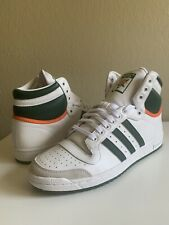 Brand New No Box - Adidas Top Ten Hi White/Green/Orange - Mens Size 10 - EF2516