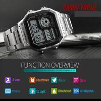 SKMEI Men's Watch LED Digital Waterproof Military Quartz Analog Wrist Watches