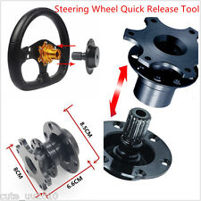 Car HUB Racing Steering Wheel Bluck Quick Release Adapter Snap Off Tool Black
