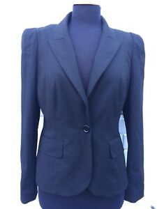 PHASE EIGHT BNWT RRP £120 Black Classic Smart Blazer Suit Jacket 12 40 Fitted