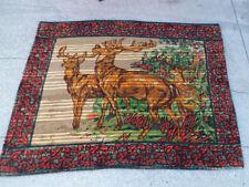 1890s Deer Alert Horsehair Lap Blanket