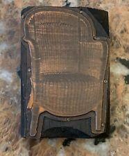 "Vintage Chair Stamp Block Advertising  3.5"" X 2.5"""