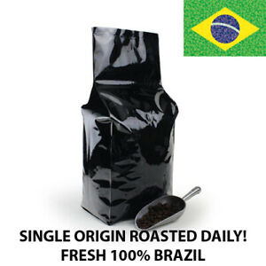2, 5, 10 LB BRAZIL BRASIL FRESH ROASTED COFFEE WHOLE BEAN, GROUND - ARABICA