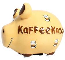 KCG Sparschwein KAFFEEKASSE Spardose Sparbüchse Geldgeschenk Spende Kaffee Firma
