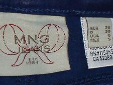 MNG BlueFauxLeather97%CottonSkinnyJeans Sz8NWoT