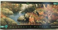 DEER & PINES Hautman Brothers Panoramic Over 3 Feet Wide 750 Piece Puzzle
