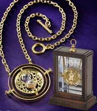 Fashion Harry Potter Time Turner Necklace Pendants Rotating Spins Gold Hourglass