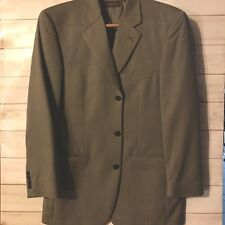 Tasso Elba 38R Taupe 100% Pure New Wool Sports Coat Blazer Jacket Excellent