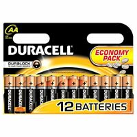 Duracell AA Batteries / Pack of 12 / Also known as LR6 and MN1500 Simply Range