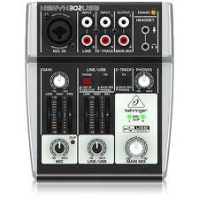 Behringer 302USB Premium 5-Input Mixer w/ XENYX Mic Preamp & USB/Audio Interface