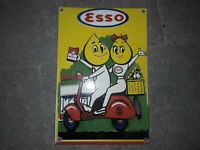 "Porcelain Esso Scotty Enamel Sign Size 12"" x 8"" Inch"