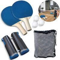 Table Tennis Set Training Equipment Kit Ping Pong Balls Paddles Expandable Net
