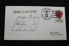 NAVAL COVER 1967 SHIP CANCEL A-3 ON STATION USS DANIEL WEBSTER (SSBN-626) (6514)