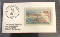 1964 Five Cent Stamp Nevada Statehood GMA GEM MT 10