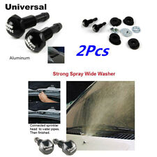 2Pcs Black Aluminum Windshield Wiper Water Jet Spray Washer Nozzle Kits For Car