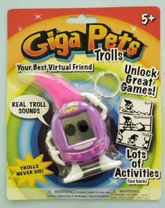 Giga Pets Trolls Purple Virtual Pet Toy New Sealed