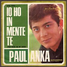 PAUL ANKA DISCO 45 GIRI IO HO IN MENTE TE - RCA VICTOR 45N 1483