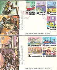 Indonesia FDC first day cover 1974 OIL 2 covers