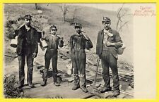 cpa POSTCARD USA PITTSBURGH TYPICAL COAL MINERS Mineurs de CHARBONS AMÉRICAINS