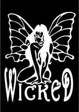 Wicked Fairy Decal Sexy Sitting Pixie Car Window Laptop Vinyl Sticker Graphic