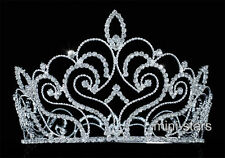 Vintage Style Pageant Beauty Contest Tall Tiara Full Circle Round Crown T1691
