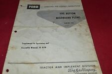 Ford Tractor 118 Five Bottom Moldboard Plow Operator's Manual Chpa