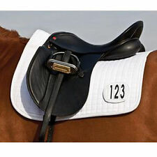 EZ View English Dressage Horse Show Number Saddle Pad Blanket White Winning
