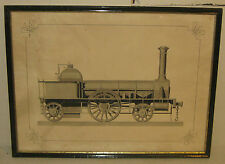 ANTIQUE STEAM POWER FIRE PUMP ENGINE WAGON PAINTING - 19TH C DETAILED GOUACHE