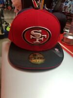 New Era 59Fifty Mens NFL Cap San Francisco 49ers 2Tone Black Red Fitted Hat 5950