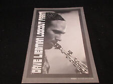 Dave Liebman Lookout Farm 1975 Japan Tour Book Jazz Program Richie Beirach David