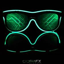 GloFX MATRIX Diffraction Glasses w/ Green Luminescence Eyewear Optical EDM Light