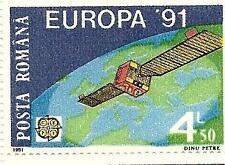 Romania 1991 Europa Cept Space Satellite Sc # 3650 Mnh