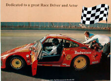 FREE Ship Paul Newman in his Porsche 935 (1981) / 911 poster/Race re Print