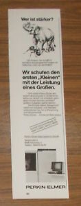 Seltene Werbung PERKIN-ELMER DATA SYSTEMS Microcomputer Elefant 1981