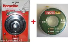 Homelite/RYOBI F20, HLT-RLT26 - RLT30 - RLT430 - PLT30-Serie,+ 15m Ersatzfaden