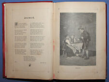 "Antique 19c. German Poetry book ""Edelweiss"""