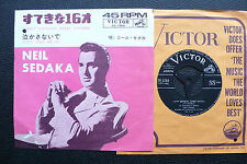 "7"" Neil Sedaka - Happy Birthday Sweet Sixteen - Japan RCA w/Pic"