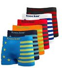 3 6 Mens Seamless Athletic Compression Boxer Briefs Shorts Underwear One Size