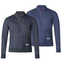 D555 Mens Funnel Neck Half Zip Sweatshirt (ROBBY)
