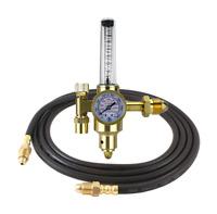 Argon CO2 - TIG MIG Flowmeter - Welding Regulator with 5 Feet Argon Hose HDV