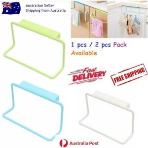 Over Door Tea Towel Holder Rack Rail Cupboard Plastic Hanger Bar Hook Kitchen Au
