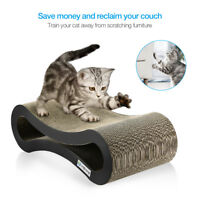 Cat Pet Scratcher Lounge Post Furniture Play Rest Sleep Cardboard with Catnip