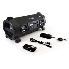 NEW Pyle PBMSPG130BK Wireless Bluetooth BoomBox Speaker  MP3/USB/SD/FM DJ Lights